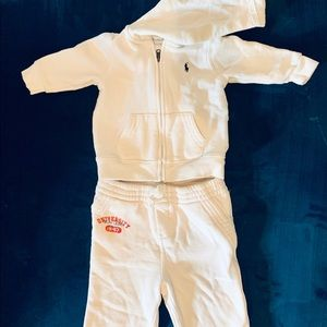 Ralph Lauren Baby French Terry Pants and Hoodie
